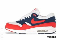 Nike Air Max 1 - Mid Navy/Action Red-Neptune Blue