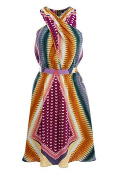 Color Block Tribal Dress.