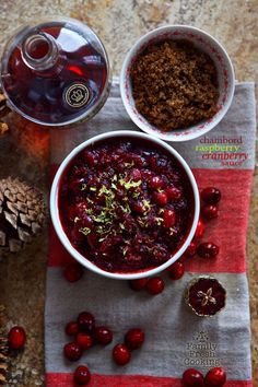 Chambord Raspberry Cranberry Sauce   WOW! Your guests with this lip smacking great recipe for the holidays! FamilyFreshCooking.com