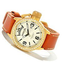 INVICTA WOMEN'S CORDUBA CRYSTAL QUARTZ LEATHER STRAP WATCH