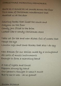 Christmas card poem I wrote for my mom and dad