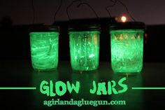 glow jars (kids craft for camping) CRAFT LIGHTING! - A girl and a glue gun
