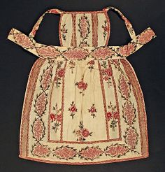 1820–29 cotton apron, American