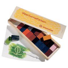 Stockmar Block Beeswax Crayons - 24 in wood box