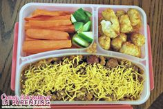 Slow Cooker Chili Tater Tot Hot Dog Casserole school lunch - was a HUGE HIT!!! lunch idea, school lunch, kid