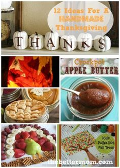 Easy Ideas for Thanksgiving ~www.thebettermom.com