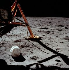 "July 20, 1969. Neil Armstrong stood on the lander's ladder, uttered his words about the giant leap, and stepped onto the Moon. Here is the first picture he took as he began to document our satellite. ""In the Shadow of the Moon - film review"" http://www.bellaonline.com/articles/art9746.asp"