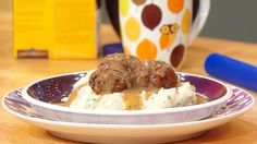 Meatloaf Meatballs with Horseradish Mash and Gravy