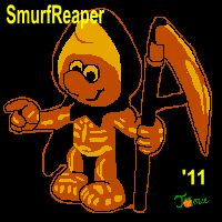 Smurf Reaper Stencil - The Pumpkin Wizard