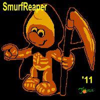 Smurf Reaper Stencil - The Pumpkin Wizard