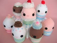 Cupcake Softie Tutorial - and much more. Very easy to make!