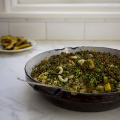 Broccoli-Basil Mac and Cheese (with Squash)