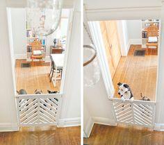 Love this gate. Doggie Gate DIY + Ace Kick-Off | Yellow Brick Home