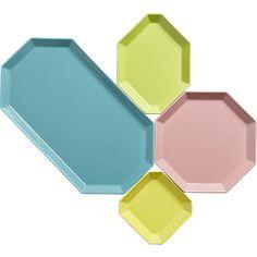 intermix aqua platter in serving pieces | CB2