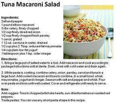 ... Pinterest | Tuna Noodle Salads, Tuna Pasta Salads and Tuna Salad Pasta