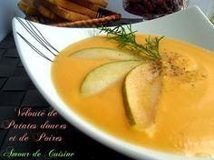 Velouté de patates douces et de poires