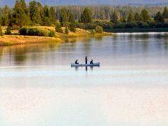 Fishing on Hebgen Lake near West Yellowstone, Montana