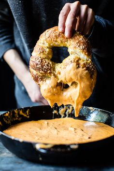 Pumpkin Beer Pretzels with Chipotle Queso @halfbakedharvest