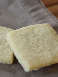 Lemon shortbread.