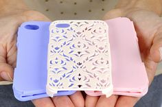 Want this! Cute inner and outer cell phone shells. I like the lace one
