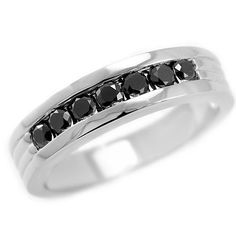 0.70 Carat Fancy Black Diamond & Palladium Solid by JewelryPoint
