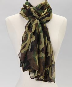 Green Camouflage Scarf