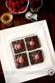sweetest kitchen - Raspberry Chocolate Chunk Brownies Infused With Nespresso Cioccorosso