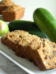 Zucchini, Carrot and Apple Bread With Pecans and Chocolate ...replacing oil with pumpkin and will add flax seeds...yum
