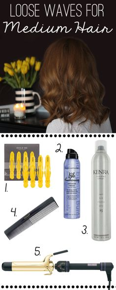 How To: Loose Waves for Medium Hair.
