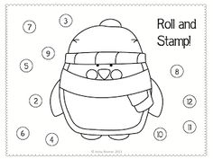 penguin roll & stamp activity