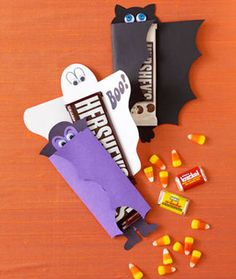Halloween Candy Bar Covers (with template)