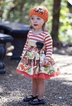 Giggle Moon Pumpkin Pie Party Ruffle Dress.  So cute!