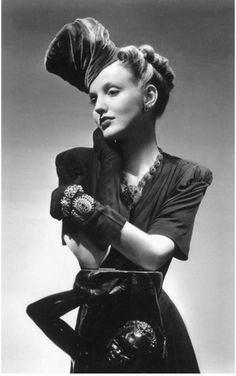 Vogue 1938 - every element is so eye-catching, fresh and fantastic! #vintage #1930s #fashion #hats