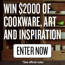 Win $2,000 to spend on cookware, art and inspiration for spring. Enliven your home with art, refresh your kitchen with cookware and receive cash + recipes for spring inspiration. Enter here: tastingtable.com/artofcooking
