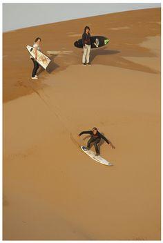 #sand #surfing
