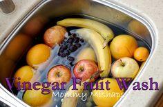 Vinegar Fruit Wash