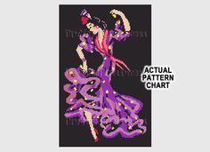 Flamenco Dancer Retro Cross Stitch Art Deco by NewYorkNeedleworks, $8.50