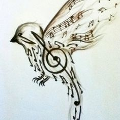 Would be fantastic tattoo...songbird.