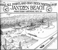 Jantzen Beach Grand Opening (The Morning Oregonian, 26-May-1928)