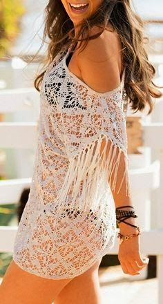 Boho beach coverup im in love with this