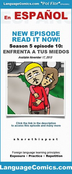 Practice your #Spanish with this episode and many more at https://www.languagecomics.com/10_enfrenta_miedos2/. Repin then click the image to go to the story. Access to this episode requires a $10.00 monthly membership. Enjoy. ---------------------------------------------  Also find us on:  http://www.Facebook.com/languagecomics ---------  http://www.YouTube.com/LanguageComicsTeam --------- http://www.Instagram.com/LanguageComics_