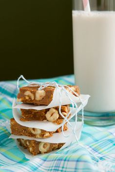 Dairy Free Hazelnut Toffee Squares | Brittany Angell Feature