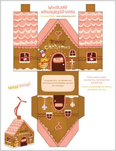 6 FREE gingerbread house printable downloads!