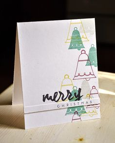 Merry Christmas Card by Maile Belles for Papertrey Ink (September 2014)