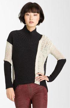 Helmut Lang Melangé Knit Turtleneck Sweater available at Nordstrom