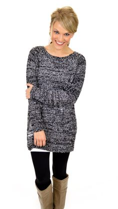 Keep It Casual Sweater, Black :: NEW ARRIVALS :: The Blue Door Boutique