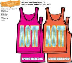 Spring break tank? different colors