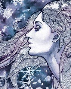 "Priscilla Wilson ""Snow Queen"" ---- snow queen, art women, queens, los angel, fairy tales, fairi tale, priscilla wilson, art shows, gallery1988 art"