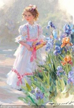 """""""Young girl in the garden"""""""