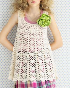 Crochet tunic couldn't find a free pattern for this, just a Japanese order blank? Still, so pretty!